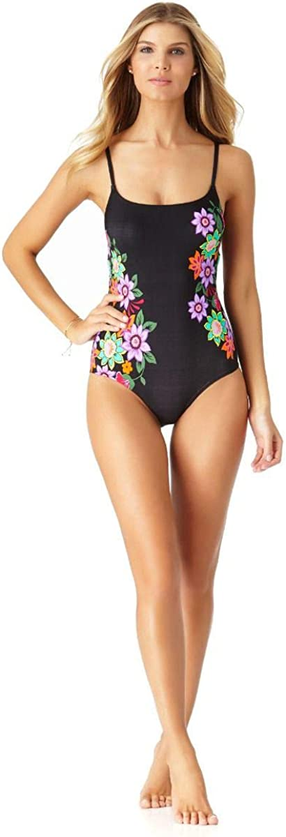 Anne Cole Womens Fleetwood Floral-Print One-Piece Swimsuit