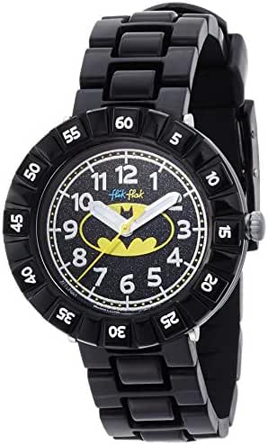 Swatch Batman Kids' ZFFLP001 Analog Display Swiss Quartz Black Watch