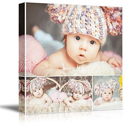 NWT Custom Canvas Prints with Your Photos Collage Idea, Personalized Canvas Pictures for Wall to Print Framed 24x24 inches