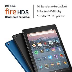 Das neue Fire HD 8-Tablet mit Alexa, 8-Zoll-HD-Display, 16GB, Schwarz, mit Spezialangeboten