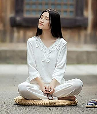 peiwen Lino Natural/Yoga de la Mujer/Juego de la práctica ...