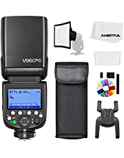 Godox V860III-C TTL 2.4G GN60 HSS Camera Flash with 10-Speed Adjustable Modeling Light, one-Key Switch TTL+2600 mA, Extremely Fast Recovery Lithium Battery Speedlite for Canon (Godox V860III-C)