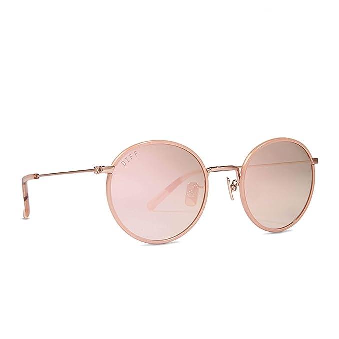 Amazon.com: Diff Eyewear Daisy - Gafas de sol redondas de ...