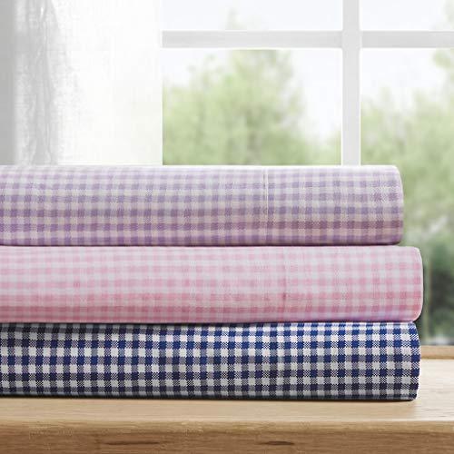 (Mi-Zone Gingham Cotton Sheet Set Pink Queen)