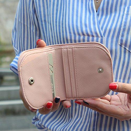 Simple Snap Holder Wallet Purse Card HeySun Lavender Compact Lightweight Fashion Women for Clip Money W4qRcnIfH