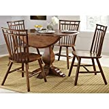 Liberty Furniture Creations II 5 Piece Round Dining Set in Tobacco