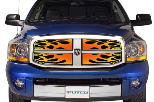 Putco 89300 Four-Color Flaming Inferno Style Grille Insert