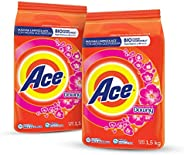 Ace Detergente en Polvo Con Toque Downy 2 Unidades de 1.5Kg, Total 3Kg