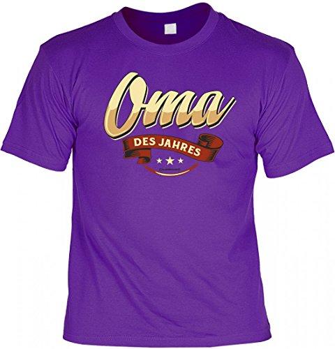 T-Shirt Spruchshirt als Geschenk - Oma des Jahres - witziges Funshirt für die Oma zum Geburtstag oder Weihnachten