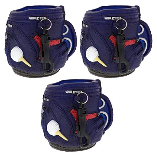 SandT Collection Golf Theme Koozie Beer Holder with Keychain - Set of 3