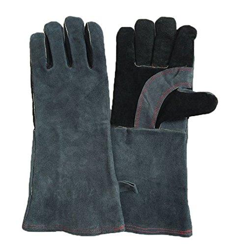 1 Paar Arbeitshandschuhe Sicherheitshandschuhe Schweißschutzhandschuhe Aus Leder Schnittfeste Küchen Handschuhe Hitzeschutz Handschuh Rutschfeste für Zuhause und Arbeit