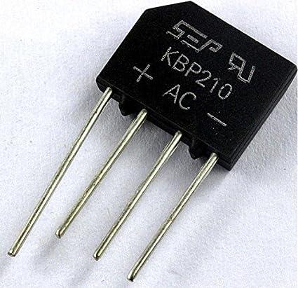 LOT KBP210 flat bridge rectifier bridge 2A 1000V generation RS207 Calvas 100PCS