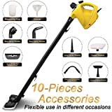 ENSTVER Handheld Pressurized Steam Cleaner,Steam Mop,Floor Cleaner with 10-Piece Accessory Set -Chemical-Free Steam Cleaning for Home, Auto, Patio, More