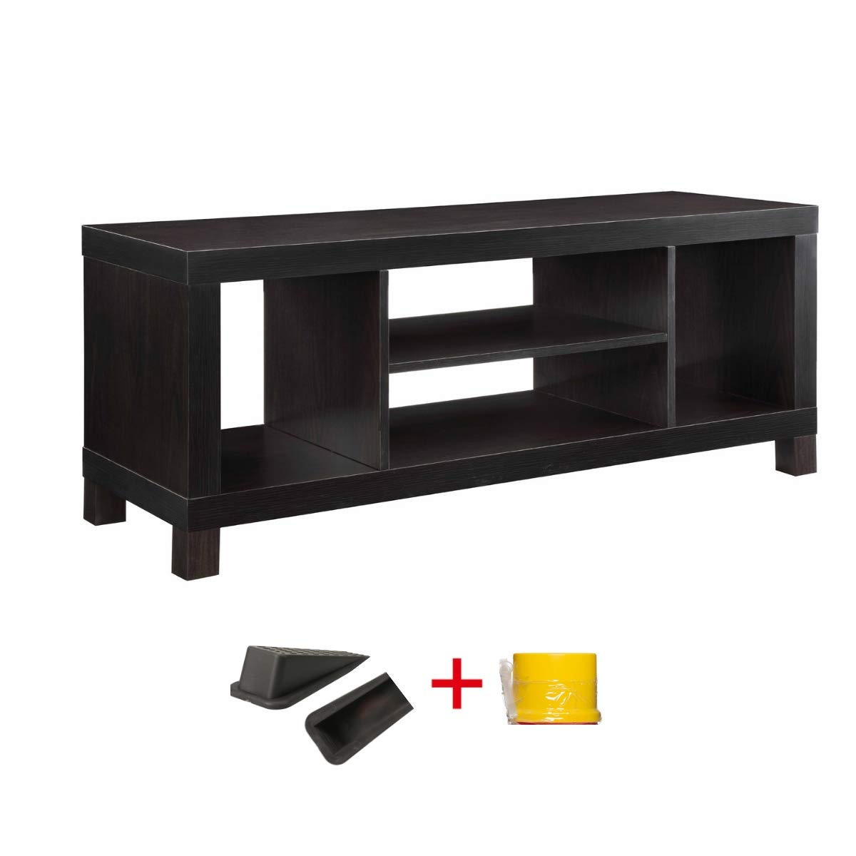 Generic Cross Mill TV Stand Black, 15.75 x 45.38 x 20.88 Inches
