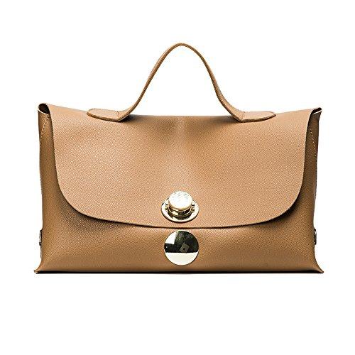 GWQGZ Fashion New Women Handbags 2017 Pu Leather Women Tote Bags Locks Big Bags Commute Simple Boston (Suede Boston Bag)