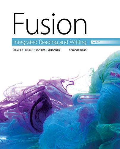 Fusion: Integrated Reading and Writing, Book 2