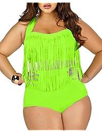 Estong Women's Plus Size Swimwear 2 Pcs High Waist Bikini Bathing Suit For Women