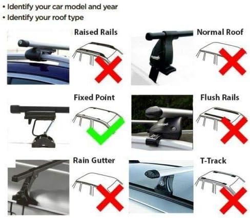 Set of 2 Summit SUP-009 Premium Multi Fit Roof Bars Black Steel