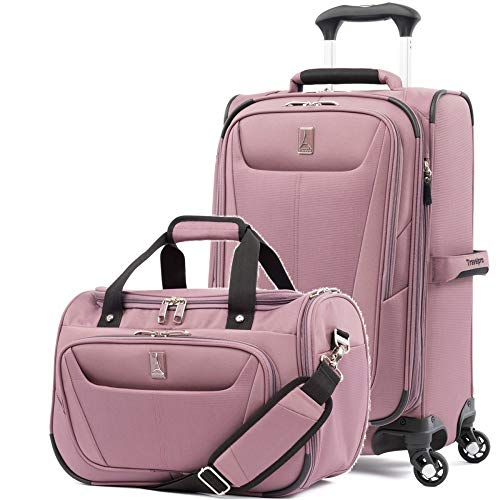 Travelpro Luggage Maxlite 5 | 2-Piece Set | Soft Tote and 21-Inch Spinner (Dusty Rose) (2 Piece Stackable Luggage Set)