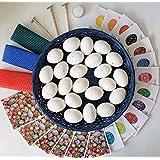 Ukrainian Easter egg decorating kit gift set Pysanky dyes kistka tool egg shells beeswax, Mother's day gift