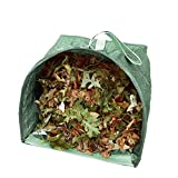 Garden Bag Reusable Leaf Bag Large Yard Lawn Gardening Waste Bag Dustpan-Type Collapsible Heavy Duty Garden Debris Container, 53 Gallon, 2 Pack