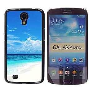 TopCaseStore / la caja del caucho duro de la cubierta de protección de la piel - Caribbean White Sand Paradise Beach - Samsung Galaxy Mega 6.3 I9200 SGH-i527