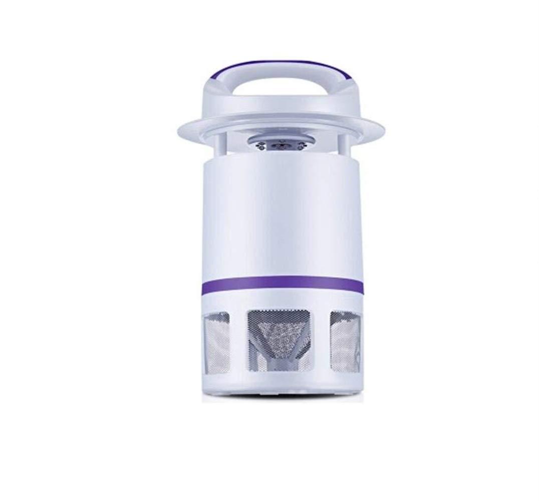 Moontang Silent LED Zanzara parassita antiparassitario Casa elettrica Fly Bug Zapper Trappola per parassiti all'aperto Senza radiazione Tipo di aspirazione (colore   Viola, Dimensione   -)