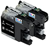 Skia Ink Cartridges ¨ 2 Pack Compatible with Brother LC101 / LC103(LC103BK) for DCP-J152W, MFC-J245, MFC-J285DW, MFC-J450DW, MFC-J470DW, MFC-J475DW, MFC-J650DW, MFC-J6520DW, MFC-J6720DW, MFC-J6920DW, MFC-J870DW, MFC-J875DW