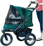 Pet Gear No-Zip Jogger Pet Stroller, with Zipperless Entry, Forest Green