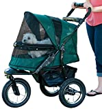 Pet Gear No-Zip Jogger Pet Stroller, Zipperless Entry, Forest Green