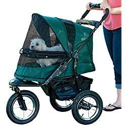 Pet Gear No-Zip Jogger Pet Stroller Zipperless Entry Forest Green