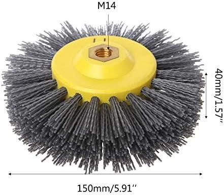 Moligh doll 1 Stück 150x40mm x M14 P60 Nylon Schleifmittel Polierbürste Rad Für Holz M?bel Stein Antiquing Schleifen
