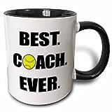3dRose-Softball-Best-Coach-Ever-Two-Tone-Black-Mug-11oz-mug2106294-11-oz-BlackWhite