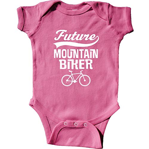 inktastic Future Mountain Biker Infant Creeper 6 Months Raspberry
