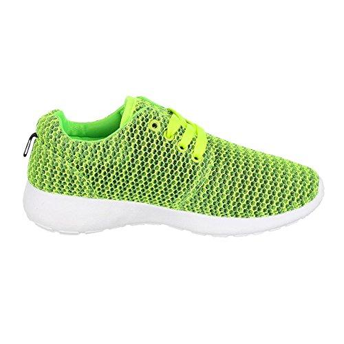 Ital-Design - Zapatillas de Material Sintético para mujer Verde - verde