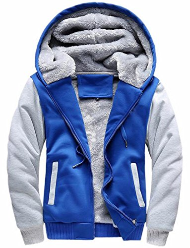 Coats Thick Hoodies Wool today UK Mens Jacket Color Contrast Winter 3 Warm 1wHXv