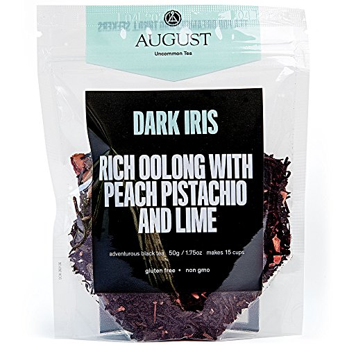 Iris Tea - August Uncommon Loose Leaf Tea - Dark Iris Rich Oolong with Peach, Pistachio and Lime