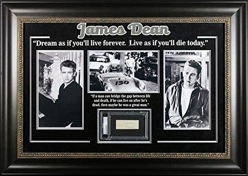 James Dean Authentic Signed & Framed 1.5×3.5 Cut Signature PSA/DNA Slabbed