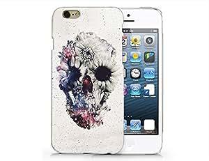 SUPERTRAMPshop - Flower Skull Custom Cover Iphone 6 Full Protection Durable Hard Plastic Case