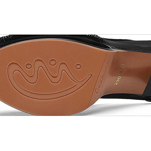 uk3 Impermeable Pescado Tacón Zapatos 5cm 3 7cm Tamaño 02 Feifei cn34 02 tabla Pu Material Altura Medio Sandalias Eu35 Verano Mujer De color Refrescante Con Moda 8gxwxvqO