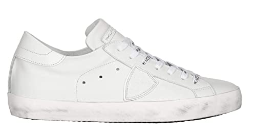 Philippe Model Classic Low Sneaker Donna Bianca Pelle Suede CLLD 1001