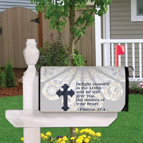 (Psalms 37:4 - Religious Design #6 - Magnetic Mailbox Cover)