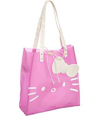 2718a1ed3e4b Hello Kitty Pink Jelly Tote Bag  Amazon.co.uk  Clothing