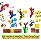 Pegatinas decorativas de pared con diseño de Super Mario, Luigui y Yoshi
