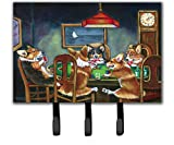 Caroline's Treasures 7416TH68 Corgi Playing Poker Leash Or Key Holder, Triple, Multicolor