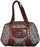 Women's DKNY Purse Handbag T&C Turnlock Chino/Saddle