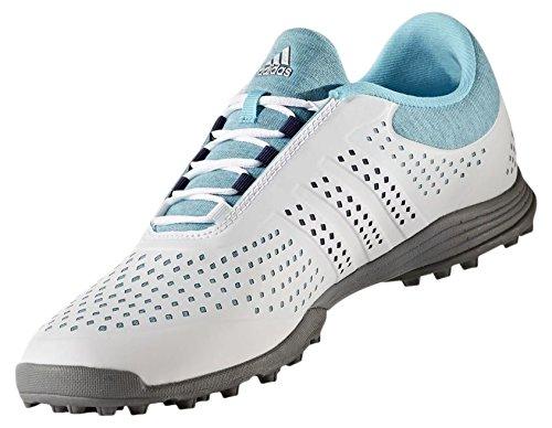 Adidas Q44740, Chaussures De Golf Pour Femme, Multicolore (azul / Plata), 42 Eu