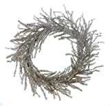 Heart of America Round Artificial Pine Wreath With Silver Glitter