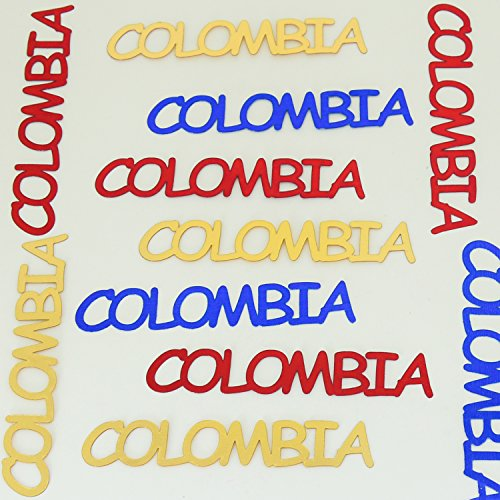 Confetti World Cup - Colombia Blue Royal, Red, Gold- Approx 25 Pieces #4005 - Free Ship -