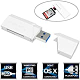 Sabrent SuperSpeed 2-Slot USB 3.0 Flash Memory Card Reader for Windows, Mac, Linux, and Certain Android Systems - Supports SD , SDHC , SDXC , MMC / MicroSD , T-Flash [White] (CR-UMSW)